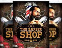 Barber Shop - Premium Flyer Template + Facebook Cover