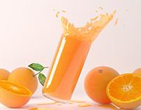 Jugo de naranja 3D