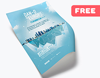 Creative Conference Event - Free Flyer Template