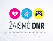 GAMEON / ŽAISMO DNR  motion graphics package