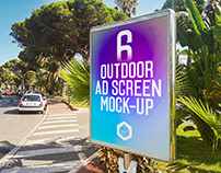 Outdoor Advertising Screen Mock-Ups 13 (v.1)