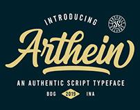 FREE | Arthein An Authentic Script Typeface