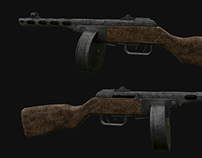ppsh-41 low poly