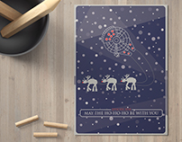 May the Ho Ho Ho be with You Christmas Card/Poster