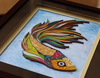 Quilled Fish Wall Art