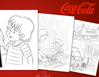 Coloring book Coca-Cola