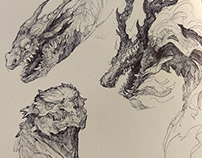 Sketchbook - Dragon heads