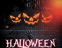 Halloween Spooky – Download Free PSD Flyer Template