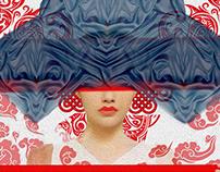 chinese - fashion illustration , collage