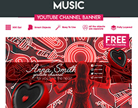 FREE MUSIC YOUTUBE CHANNEL BANNER