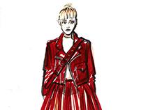 Fashion illustration. Quick sketch
