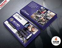 Car Repair Shop Business Card PSD