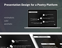 Presentation for a Poetry Platform