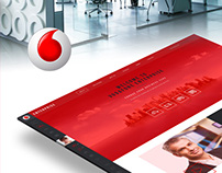 Vodafone Enterprise Website Redesign - Concept