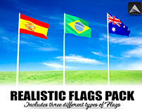 Realistic 3D Flags