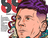 Leo Messi Cover (Eight by Eight #06; New York, 2015)