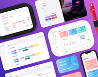 Purple- Bootstrap4 admin templates