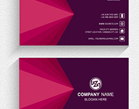 Double-sided modern red free business cards