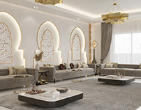 Modern Moroccan style living area KWT