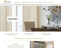 Commercial Window Covering Website Design – California