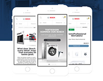 BOSCH Global Mobile Website UI Design & Animation