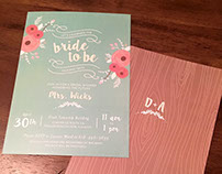 Floral Rustic Bridal Shower Invite