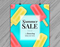 Realistic Summer Sale Poster II | Designed for Freepik