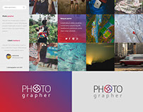Free photography portfolio psd