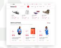 Reebok UI redesign concept