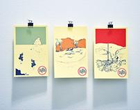 postcards, landmarks for posterity