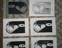 vinyle linocut