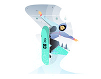 A Snow Skater Illustration