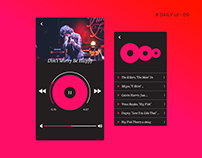 #Daily UI-09 #Music Player