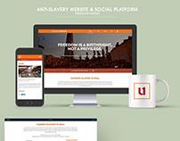 Freedom United Website + Social Platform