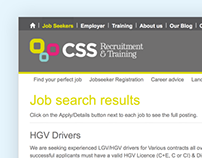 CSS Recruitment - Website & Expression Engine Module