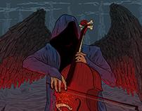 Hellish cellist