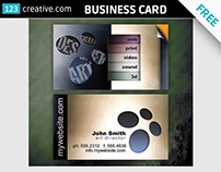 FREE Business Card for creative professional