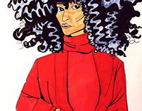 Red, Big Hair, Diva.