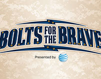 Bolts for the Brave logo and print materials design