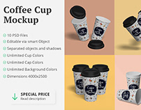 Free Download Paper Coffee cup mockup
