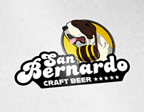 SAN BERNARDO CRAFT BEER LOGO TEMPLATE
