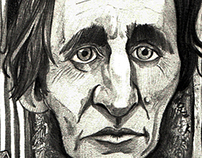 Henry David Thoreau caricature