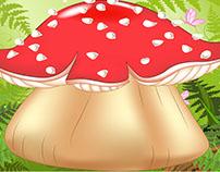 3D Cute Mushroom