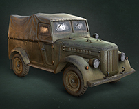 |3D ART | Low poly model GAZ-69