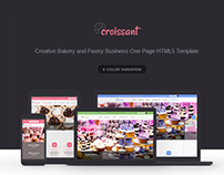 Croissant - Creative Bakery Onepage HTML5 Template