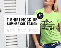 T-Shirt Mock-Up Summer Collection
