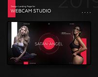 Landing Page. WebCam model's studio