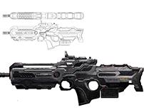 Concept art y Blueprint-Weapon 01