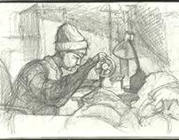 Зарисовки карандошом