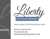 Liberty Custom Homes - Logo Design and Business Cards